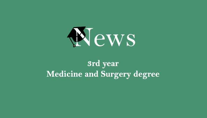 Course Image Medicine news 3rd year